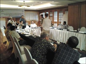 "Participants engaging in discussion during the workshop, ""Ecosystem Approach to Fisheries Management for Leaders, Executives and Decision-makers,"" held in in Jakarta, Indonesia, on March 19–20. NOAA photo by Megan Moews"