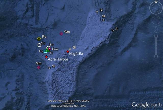 Figure 7- Guam cetacean sightings