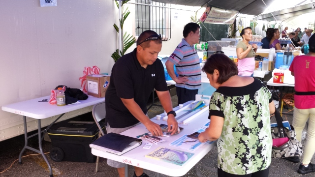 Eric Cruz conducts outreach in Guam
