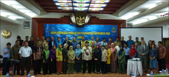 Participants of the workshop in Bandung, Indonesia, pose for a group photo. NOAA photo
