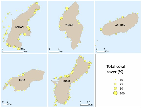 Figure 1. Mean total fish biomass at sites surveyed in the southern islands.