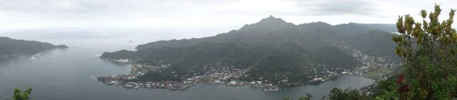 View of Pago Harbor from Mt. Alava, American Samoa