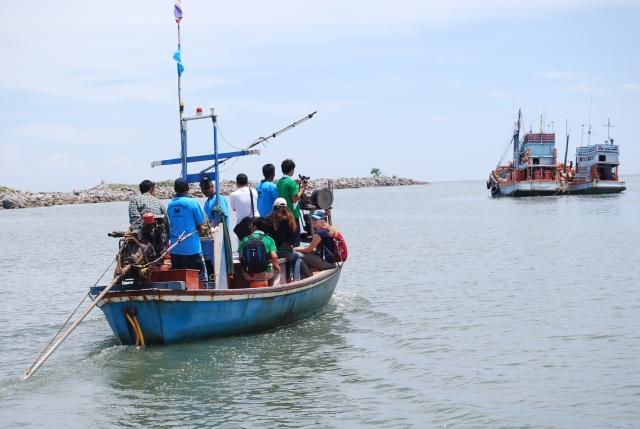 Field visit at Crab Bank in Petchaburi Province, Thailand