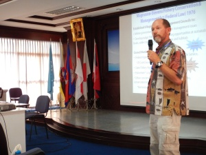 Dr. Rusty Brainard gave a talk on the fishery management history (1976-2013) in the United States and the shift toward an ecosystem approach to fisheries management.