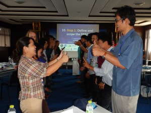 """Participating in an """"energizer"""""""