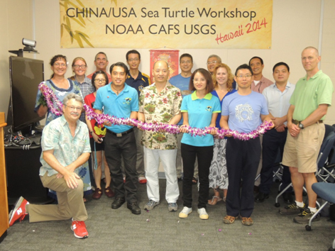 Picture of participants from the China and USA Sea Turtle Workshop