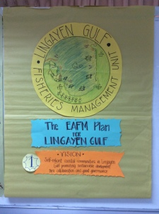 Example of the detailed logo for the Lingayen Gulf.