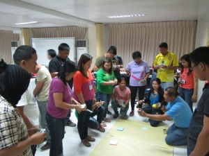 Participants get to know each other through a relationship mapping exercise.
