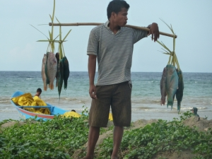 Fisherman in Dili, Timor-Leste.