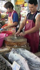 Fish market in Bangkok, Thailand.  Photo by Supin Wongbusarakum