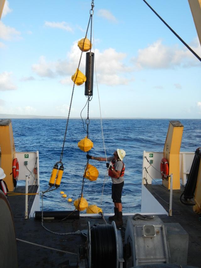 Chief Boatswain—Chris Ka'ana'ana and deck crew deploying the HARP