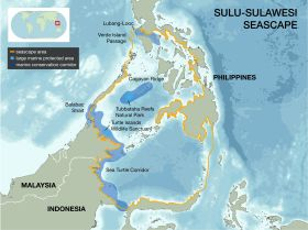 Map of the Sulu-Sulawesi Seascape.  Image: Marine Conservation Institute (2014), MPAtlas [On-line]. Seattle, WA. Available at: www.mpatlas.org [Accessed (03/08/2015)].