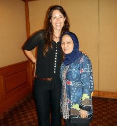 Megan Moews-Asher of NOAA Fisheries and Ibu Erni Widjajanti.