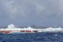 NOAA Ship Oscar Elton Sette at Rose Atoll.