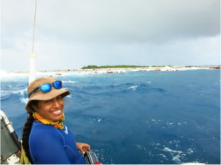 Day 3 at Rose Atoll on the small boat SE-8