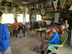 The group discusses building a community steering committee for the Pacific Remote Islands Marine National Monument.