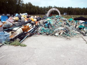 Debris at Midway Atoll