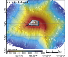 Figure 1b. Bathymetry around Jarvis Island.