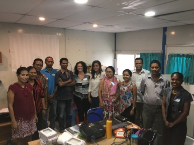 Photographs from the hands-on workshop conducted by NOAA CREP in Timor-Leste at the Ministry of Agriculture and Fisheries.