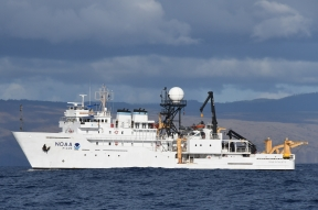 The NOAA ship Oscar Elton Sette's Leg 2 lasted from August 8 – September 5. Photo credit: NOAA Fisheries/Adam Ü
