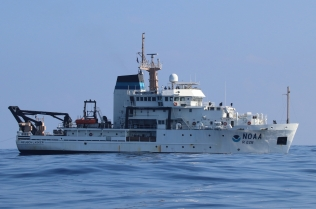The NOAA Ship Reuben Lasker's Leg 1 lasted from August 17 – September 5. Photo credit: NOAA Fisheries/Marie Hill